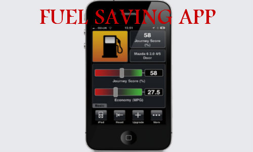drivegain fuel saving app on iphone