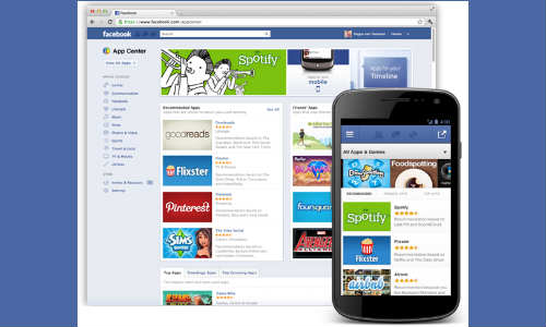 facebook launches app center in india including six other countries