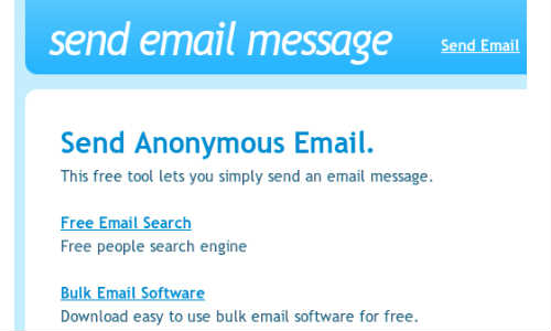 How to Send an Anonymous Email?