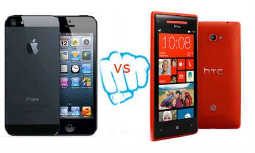 Apple iPhone 5 vs HTC 8X
