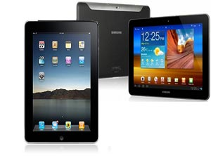 Apple ipad2 and Samsung Galaxy Tab750