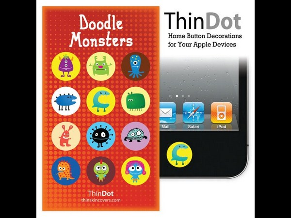 2. Doodle Monsters Home Button Stickers for iPhone