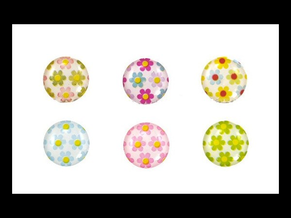 6. Flowers Home Button Stickers