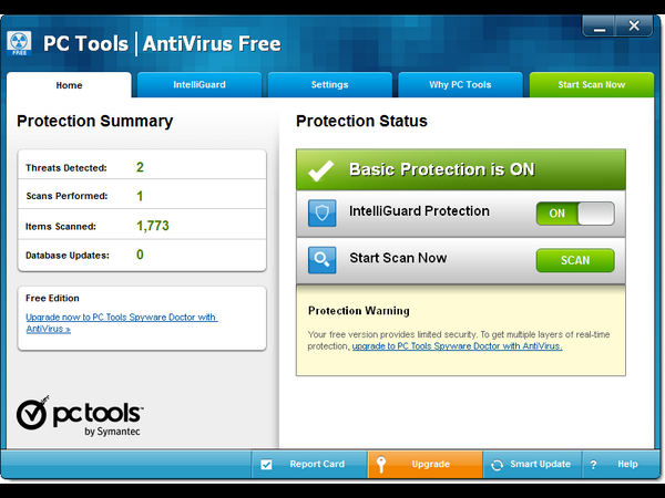 10. PC Tools AntiVirus Free 9