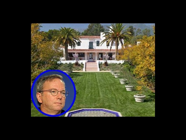 10 Eric Schmidt's Spanish Colonial mansion