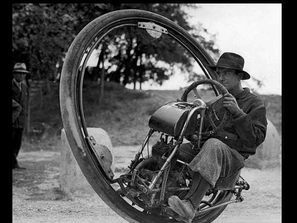 One Wheel Motorcycle (1931)