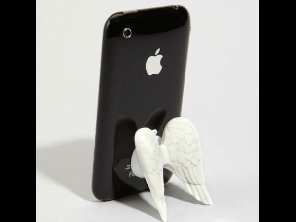 On Angel's Wings iPhone Holder