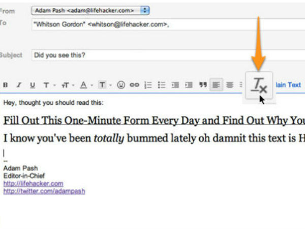 Strip Your Emails of Annoying Text Formatting