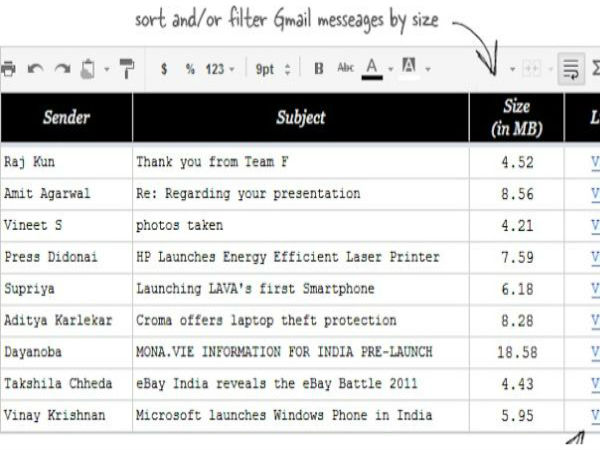 Sort Gmail Messages by Size and Get Rid of Data Hogs
