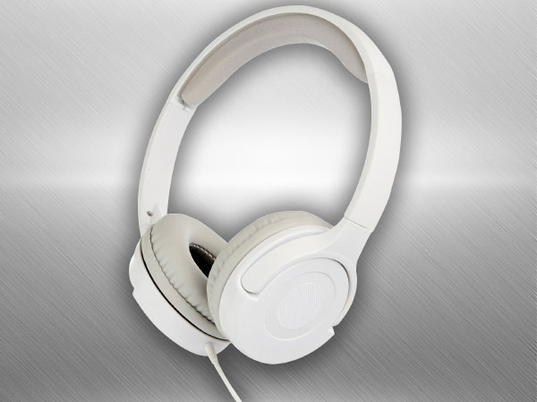 AmazonBasics White On-Ear Headphone (White)
