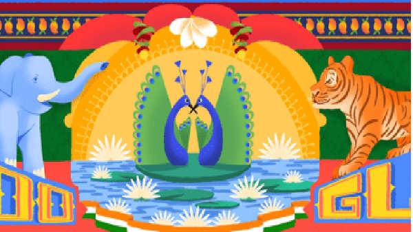 72வது சுதந்திர தினத்தை அலங்கரித்த கூகுள் டூடுல்.!
