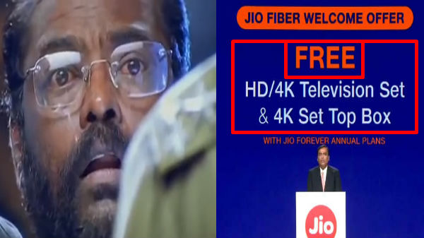 மொத்த இந்தியாவையும் திரும்பி பார்க்க வைத்த அம்பானியின் அறிவிப்பு! 4K LED டிவி, 4Kசெட்-டாப் இலவசம்!