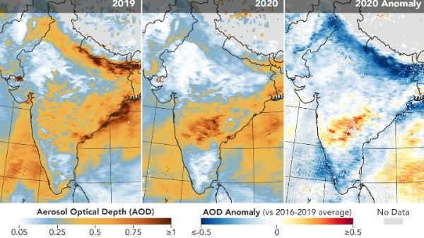 NASA சாட்டிலைட் புகைப்படத்தில் நம்பமுடியாத தகவலை வெளிப்படுத்திய இந்தியா!