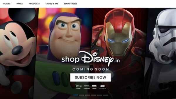 இந்தியாவில் தனது ஷாப்பிங் தளத்தை அறிமுகம் செய்த Disney நிறுவனம்..