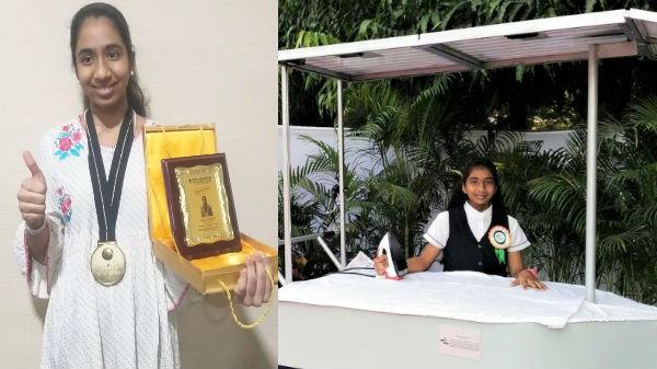 சோலார் இஸ்திரி வண்டி கண்டுபிடித்து விருதுகளை அள்ளிய தமிழக மாணவி.!