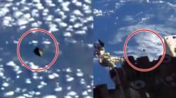 NASA பதிவு செய்த ஸ்பேஸ் ஸ்டேஷன் லைவ் வீடியோவில் UFO! உண்மையில் இது ஏலியன் விமானமா?