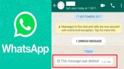 Whatsapp டெலீட் மெசேஜ்களை எப்படி மீண்டும் படிப்பது? ஆனால் ரிஸ்க் உங்களுடையது!