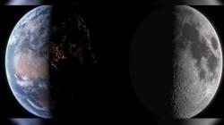 பூமியும் நிலவும் ஒரே நேரத்தில் காட்சியளிக்கும் ஆச்சரியமூட்டும் காணொளி!