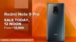 மதியம் 12 மணிக்கு தயாரா இருங்க: விற்பனைக்கு வரும் Xiaomi Redmi Note 9 Pro!