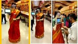 வைரல் வீடியோ: தமிழ்நாட்டில் சேலை கட்டிய அழகிய ரோபோட்! இது சாதாரண ரோபோட் இல்லை!